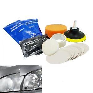 Car Headlight Lens Restoration Auto Headlamp Light Lamp Cleaner Restore Tool Kit