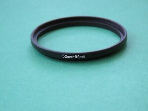 52mm-54mm Stepping 52-54 Step-Up Male-Female Filter Ring Adapter 52mm-54mm