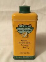 Vintage Advertising Tin DR. SCHOLL'S CHLOROPHYLL FOOT POWDER tin