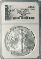 2011 American Silver Eagle - NGC MS-70 - Mint State 70 - 25th Anniversary