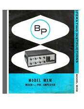 David Bogen MXM Pre-Amplifier Schematic Diagram parts value pdf