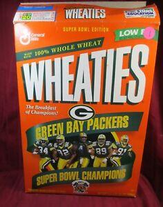 General Mills 1997 Wheaties Green Bay Packers Super Bowl BRETT FAVRE CEREAL Box