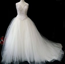 Ridotto!!! - purezza da sposa 2 Pezzi d'Avorio Tulle abito da sposa Taglia 10 (UK)