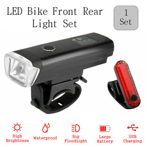 Front Rear Light Set Rechargeable LED Bicycle Light USB Bike For Cycling Bike