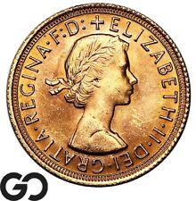 1967 Gold Sovereign, Great Britain Queen Elizabeth Gold Bullion, Gem BU++