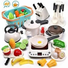 New Listing40Pcs Electronic Kitchen Play Toys Pretend Cookware Playset for Girls Boys Kids