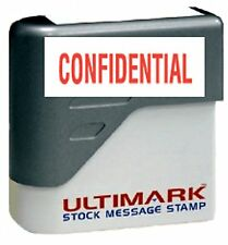 CONFIDENTIAL text on Ultimark Pre-inked Message Stamp with Red Ink