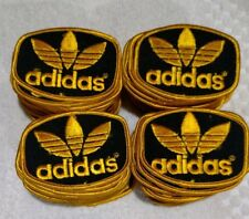 """3"""" ADIDAS  BLACK& GOLD LOGO Embroidered Patch - Iron/Sew On. Made in USA."""
