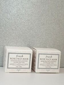 New FRESH Rose Face Mask 15ml x 2 Anti-Ageing Skincare sample travel size