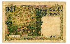 French Somaliland / Djibouti ... P-26 ... 100 Francs ... ND(1952) ... *F+*