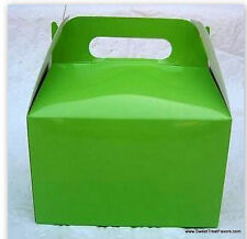 Green Party Supplies Boxes Birthday Decoration Lime Gable Loots x12 Goody Bag Nw