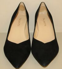 Talbots Womens Black Suede Leather Classic Pointed Toe Pump Heel Shoe Size 8.5 M