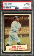 1961 Topps #401 Babe Ruth Hits 60th Homer PSA 6 (45632895)