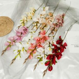Artificial Fake Silk Butterfly Orchid Flowers Wedding Party Christmas Home Decor