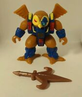 Battle Beasts #50  Knight Owl  With black dot Rub (Wood) and Weapon