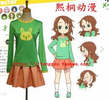 Miss Kobayashi's Dragon Maid Riko Saikawa Green Cosplay Costume X006
