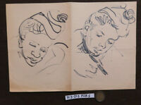 Old Drawing A Marker Basket Sketch Studio Figure Male Period P28.5