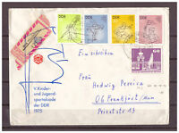 DDR, Reco + Tauschsendung MiNr. 2065 - 2068 + 1919 TSt Magdeburg 21.10.1975