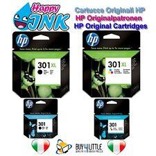 Cartucce Originali HP 301 301 XL Nero Colore Deskjet 1000 1050 1055 2050 CH561EE