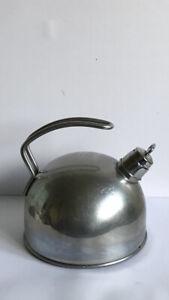 Vintage Brabantia Steel Metal Whistling Stove/Camping Tea Kettle
