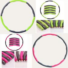 Grün Fitness Hula-Hoop Weich Abnehmbare Zusammengebaut Tragbare Massage