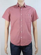 Topman Mens Size XS S Salmon Pink Short Sleeve Shirt