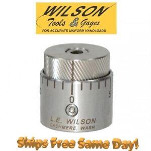 LE Wilson Chamber Type Seater Die Micro-Adjust Cap Stainless Steel NEW! SBSC-MIC