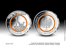 5 euro Allemagne subtropicale zone 2018 ST orange polymerring D Munich