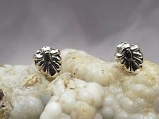 Sterling silver earrings, leaf shape. 925 silver,push back system, new