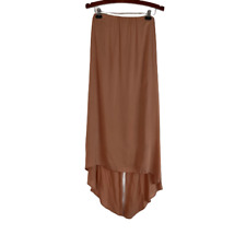 Riller & Fount Maxi Skirt High Low Tie Back Tan Peach Size 0 S Small