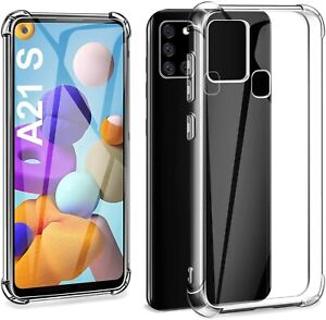 For Samsung Galaxy A21S Phone Case Shockproof Silicone Bumper Clear Gel Cover