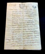 OLD VELLUM DOCUMENT 1762