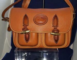 Dooney & Bourke Outback Leather Tan Medium Shoulder/Crossbody Vintage USA