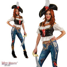 FANCY DRESS COSTUME ~ ADULT LADIES PIRATE PIRATES BOOTY OUTFIT SIZE 10-12