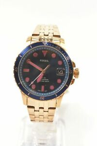 Fossil ES4767 FB-01 Three-Hand Date Rose Gold-Tone Stainless Steel Bracelet L...