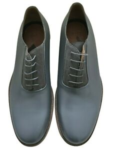 Paul Smith Grey leather Laszlo Oxford shoes UK 9.5