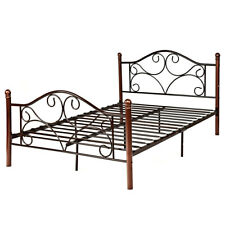 Full Size Steel Bed Frame Platform Stable Metal Slats Headboard Footboard New