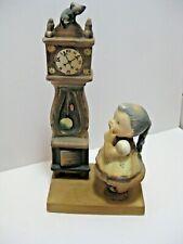 New listing Vintage Lefton Japan #1109 Hickory Dickory Dock Girl Clock Mouse Figurine