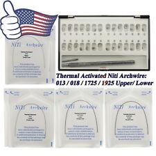 Ormco Damon Q Dental Self Ligating Brackets Molar Tubes Thermal Niti Archwire