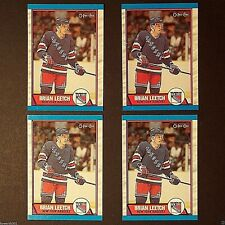 BRIAN LEETCH  Rookie Lot (4) 1989/90  OPC #136  New York Rangers  RC