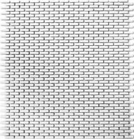 Minimosaik Stäbchen weiß matt Fliese ECO Recycling GLAS Brick Enamel WB140-B27W