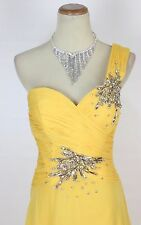 New TONY BOWLS Authentic 112535 Yellow Beaded Wedding Ball Evening Women Gown 4