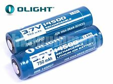 Olight 14500 3.7v 750 2.8Wh Protected Rechargeable Battery x2