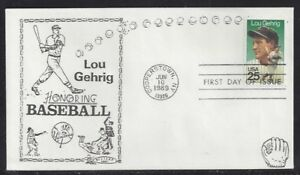 #2417 Lou Gehrig First Day Cover with Western Cachet