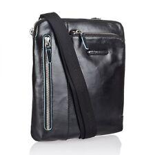 Piquadro Blue Square Borsello a tracolla da uomo porta iPad, mp3 nero CA1816B2 N