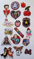 Embroidered Iron On Patches Sew on Patches Badge Transfers Fancy Dress Brand New