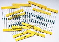 1200 Widerstände Sortiment je 10 Stück E12 E24 1% 1/4W 0207 Widerstand 0,25 W *