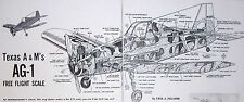 Vintage AG-1 Texas A & M's Cropduster Scale FF PLAN + Article forModel Airplane
