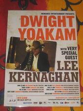 DWIGHT YOAKAM - LEE KERNAGHAN -  AUSTRALIAN  TOUR  -  PROMO TOUR POSTER