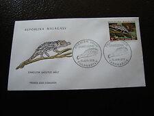 MADAGASCAR - enveloppe 15/6/73 - cameleon nasutus male - yt n° 524 - (cy8)